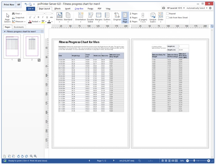 Print Excel Table Step 1
