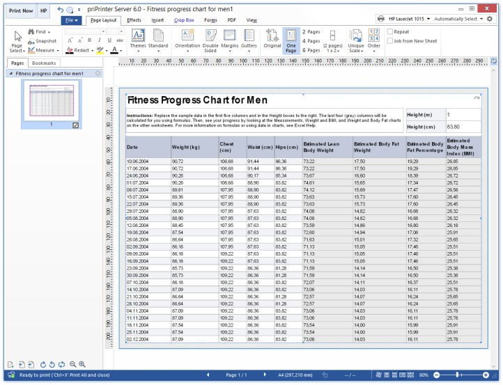 Print Excel Table Step3